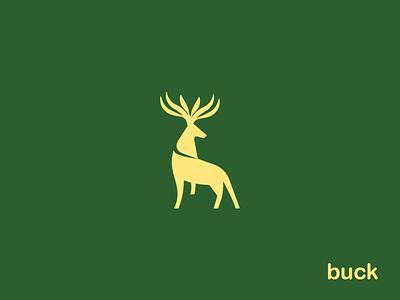 Geometric Clean Buck illustration logo type branding iconography icon minimalist logo outdoors deer hunting deer vector clean design minimalist logo design symbol buck symbol buck logo deer illustration deer logo