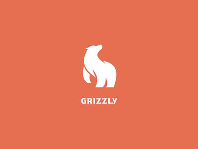 Grizzly bear icon minimalist bear grizzly smbol grizzly bear logo grizzly logo bear symbol minimalist logo illustration logo design