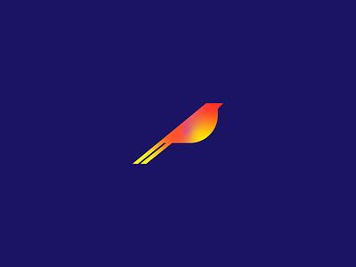 Geometric Bird symbol mark logo graphic design minimal bird design bird icon bird illustration unique bird logo bird logo design logo design minimalist bird geometric bird bird
