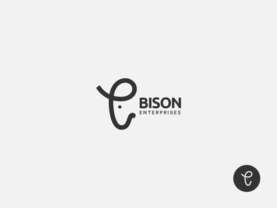 Bison Enterprises Logo Design bison symbol bison mark line logo minimal minimalist logo animal logo bison logo logomark logo design logo