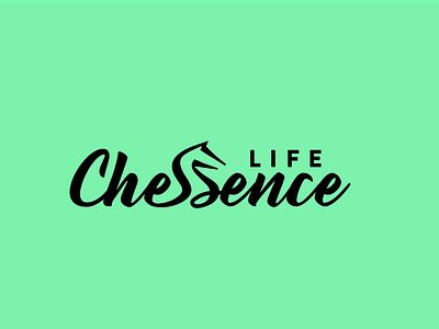 Logo design for a lifestyle blog/startup Life Chessence, logo branding typography hand drawn logo minimal branding minimalist logo logo design logo type