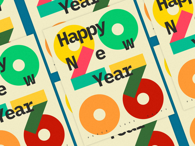 HNY2020 colours bauhaus swiss design typogaphy font illustration graphic art designlove poster art poster love peace 2020 year new happy happy new year