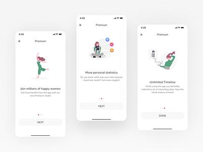 Subscription promotion premium promotion paywall subscription design mobile app design