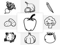 Vegetable Outline