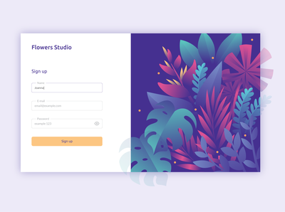 Daily UI 001 > Sign up form