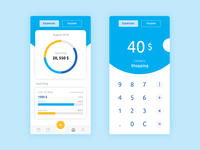 Daily UI 004 > Calculator in money tracking app