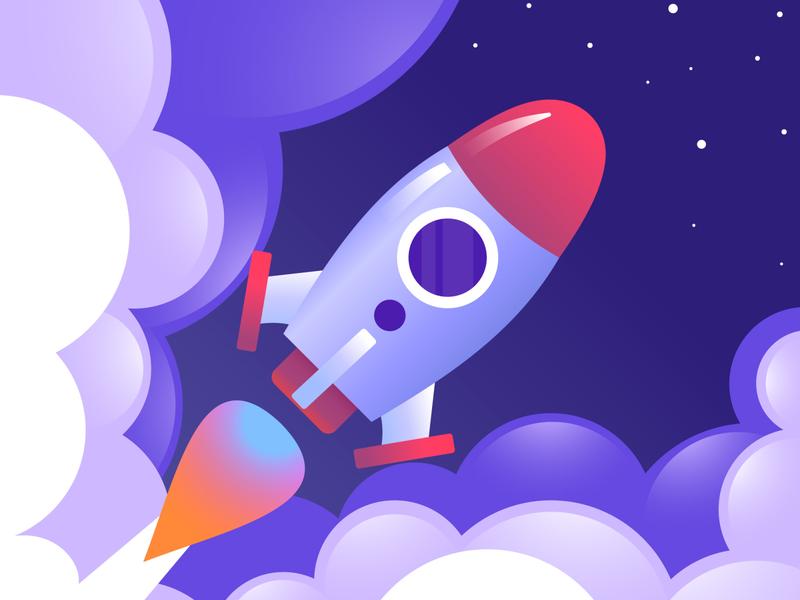 Rocket in the space vector illustration sky rocketship space vectorart freepik