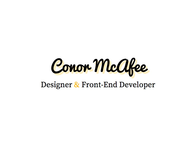 New Website Branding by Conor McAfee on Dribbble