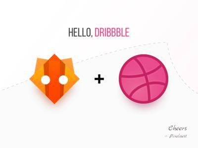 Hello, Dribbble pixelnest hello debut