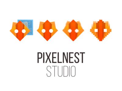 Pixelnest Logo pixel art logo pixelnest