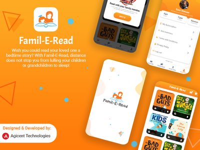 Famil-E-Read communication app appdesign android app design ios app ios app design design app design ux ui create an app android app