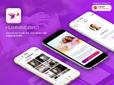 Hummingbird entertainment app datingapp android app design app ios app design ios app appdesign ux ui app design create an app android app
