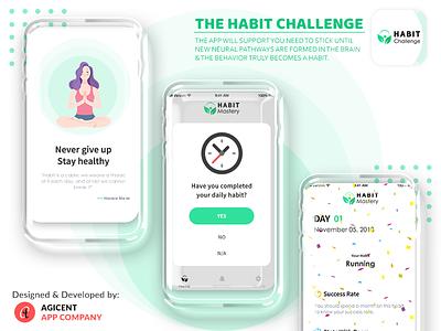 The Habit Challenge android app design appdesign design app fitness app android app app design ux ui create an app