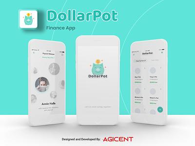 DollarPot App uxdesign uidesign savings savings app finance finance app appdesign ios app design ios app create an app app design ux ui