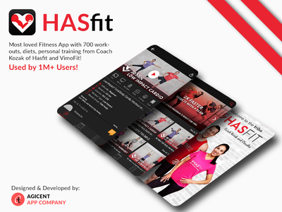 Fitness App Hasfit app design ios app design create an app android app ios app ux fitness fitness app app ui