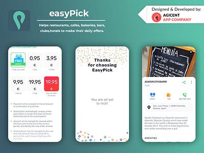 Easypick food and drink food ordering app icon web fooddrink foodapp create an app app design ui ux ios app design ios app app design android app