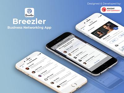 Breezler business businessnetworkingapp networkingapp businessnetworking businessapp logo design ux ui ios app design ios app create an app app app design android app