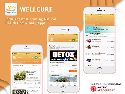 Wellcure recipe app fitness app health app ux design ui ios app design ios app create an app app app design android app