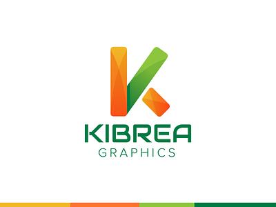 kibrea Graphics logo redesigned colorful logo kibrea graphics minimalist modern logo logo