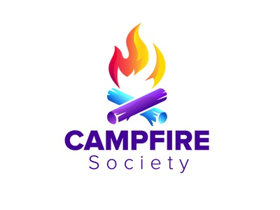 Campfire Society logo minimalism campfirelogo campfire colorful minimalist minimal flat branding dribbble illustration logo