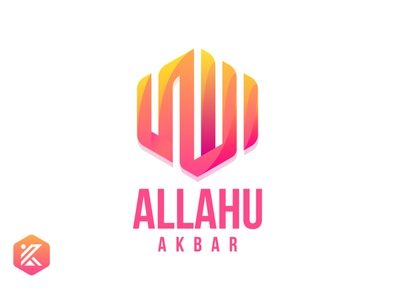 Allahu Akbar Colorful Arabic Design arabic calligraphy arabic logo allahuakbar allahuakbar allah minimal flatdesign colorful design vector illustration logo
