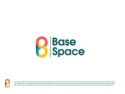 Base Space flat logo design logo design logotype logos flat design colorful logo flat logo dribbble vector team logo logo