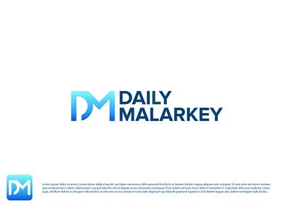 Daily Malarkey flat logo typography vector colorful modern logo minimal minimalist team logo dribbble illustration logo