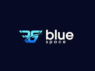 Blue Space logo colorful logo vector colorful minimal design modern logo minimalist illustration dribbble logo