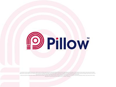 Pillow minimal logo design illustration design dribbble pillow pillow logo minimal modern logo colorful minimalist logo
