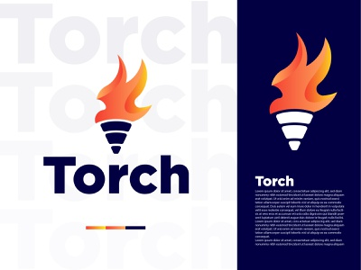 Torch logo Design typography torch torch logo logo design minimalist colorful modern logo dribbble illustration logo