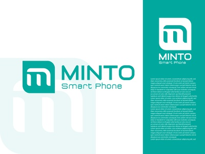minto Smart Phone Company logo design illustration dribbble colorful logo modern logo minimalist mobile logo logo design smartphone company logo logo