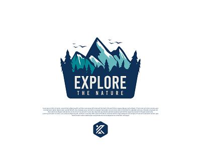 Explore the nature Badge logo logo design badge camping logo mountain logo badge logo modern logo minimalist dribbble illustration logo