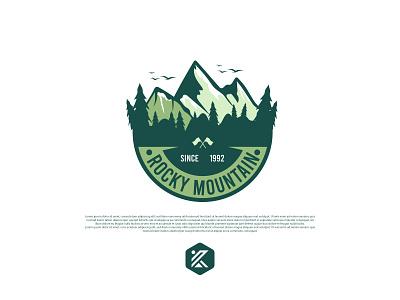 Rocky Mountain badge logo logodesign rocky mountain mountain logo mountain badge logo logo design colorful logo design minimalist dribbble logo