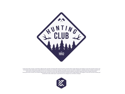 Hunting Club logo forest hunting forest logo mountain logo badge hunting club hunting badge logo colorful logo modern logo illustration dribbble logo
