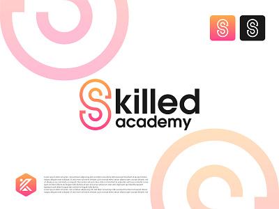 Skilled Academy logo education logo coaching logo education academy academy logo modern logo minimalist dribbble logo