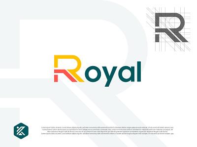 Royal minimal logo logo design design vector colorful logo royal royal logo r logo modern logo dribbble illustration logo