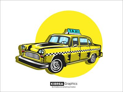 Taxi Cab Illustration illustrator art vector design illustration taxi cab taxi