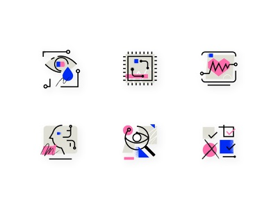 AI Trends Report Icons outline tooploox texure artificial intelligence icons