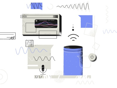 Conversational AI conversational alexa siri photoshop texture tooploox illustration artificial intelligence