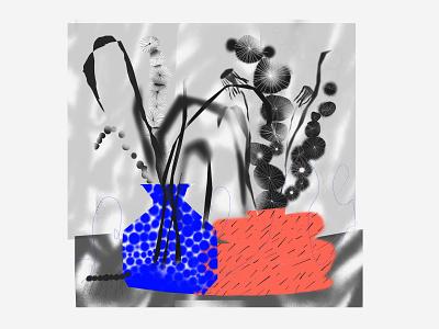 flowers & vases texture flowers illustration procreate flowers still life illustration