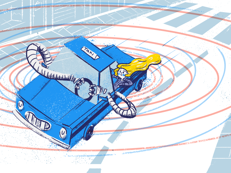 Self-driving cars from users' perspective wrocław city driving car autonomous self-driving tooploox blog illustration