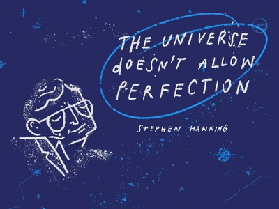 The Universe portrait tribute illustration hawking stephen