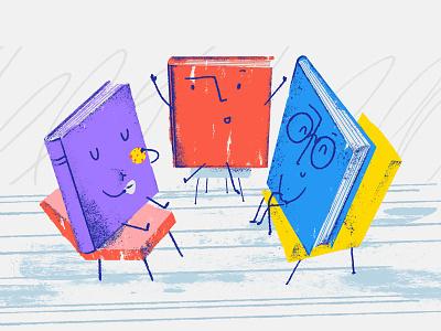 Book Club book club character book books work illustration wrocław tooploox