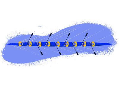 Partnership teamwork partnership boat rowing tooploox illustration