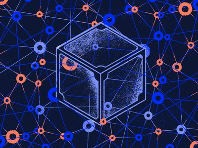 Blockchain & IPFS connection smart contract link ipfs blockchain tooploox illustration