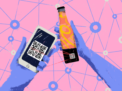 Tooploox cooperation with wBrew brewery technology blockchain beer brewery illustration tooploox wrocław
