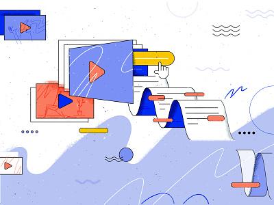 Summary AI geometric wrocław artificial intelligence youtube vector tooploox illustration