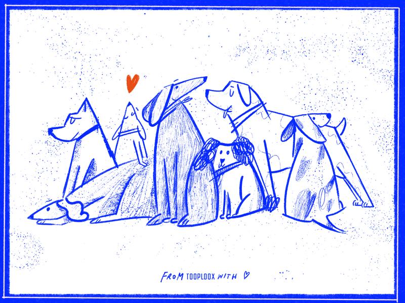 Tooploox Doggies doggo doggie animals illustrated animals tooploox illustration