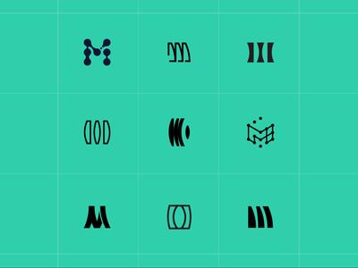 M Mark Search monogram symbol letter minimal lifescience mark letterform logo branding tooploox