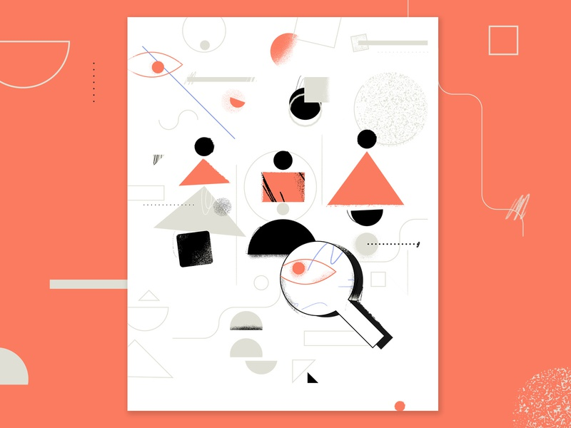 Visual Search AI geometric artificial intelligence ai texture work tooploox illustration